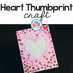 Heart Thumbprint Art