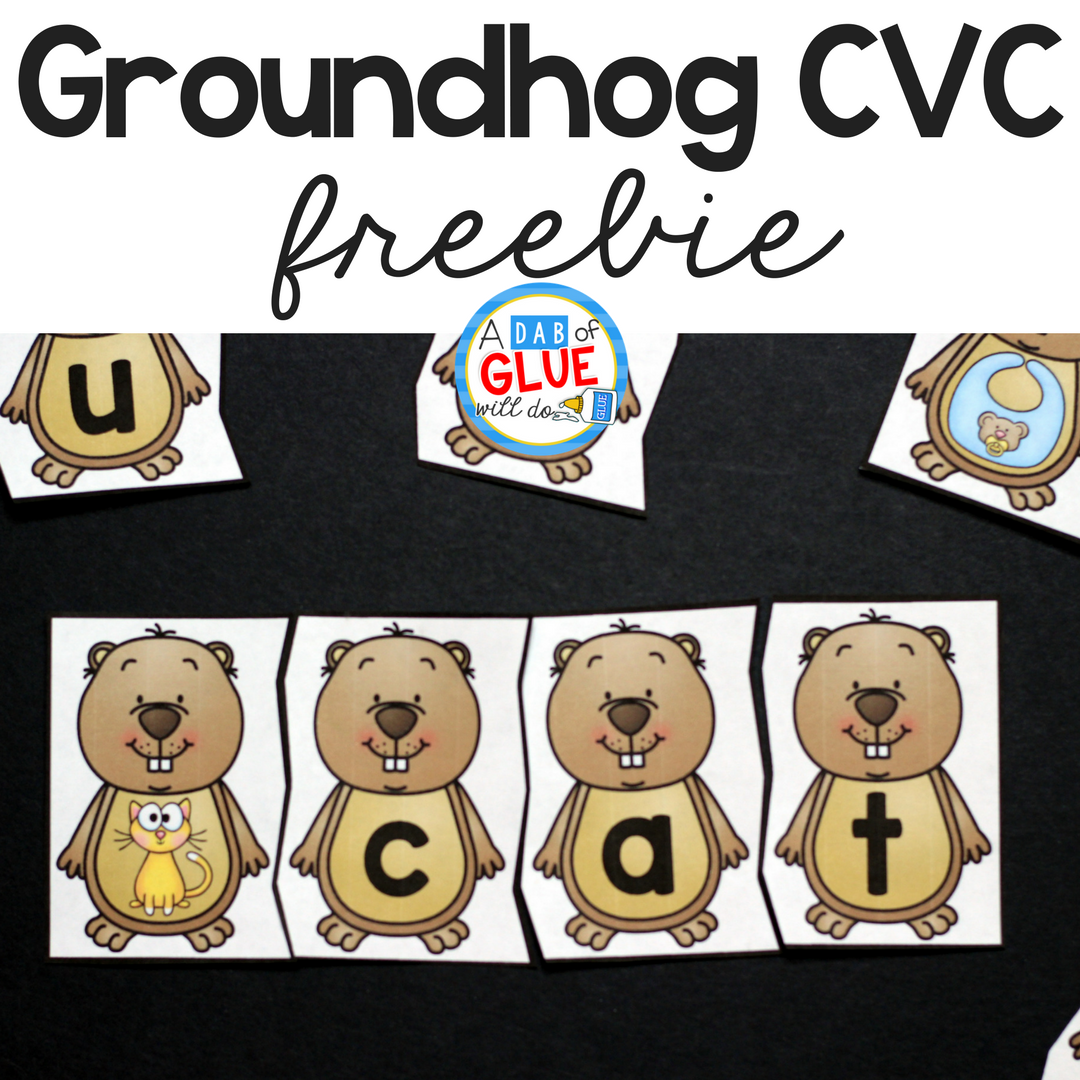 Groundhog CVC Puzzles will be the perfect addition to your literacy centers this Groundhog Day. This free printable is perfect for kindergarten and first grade students.