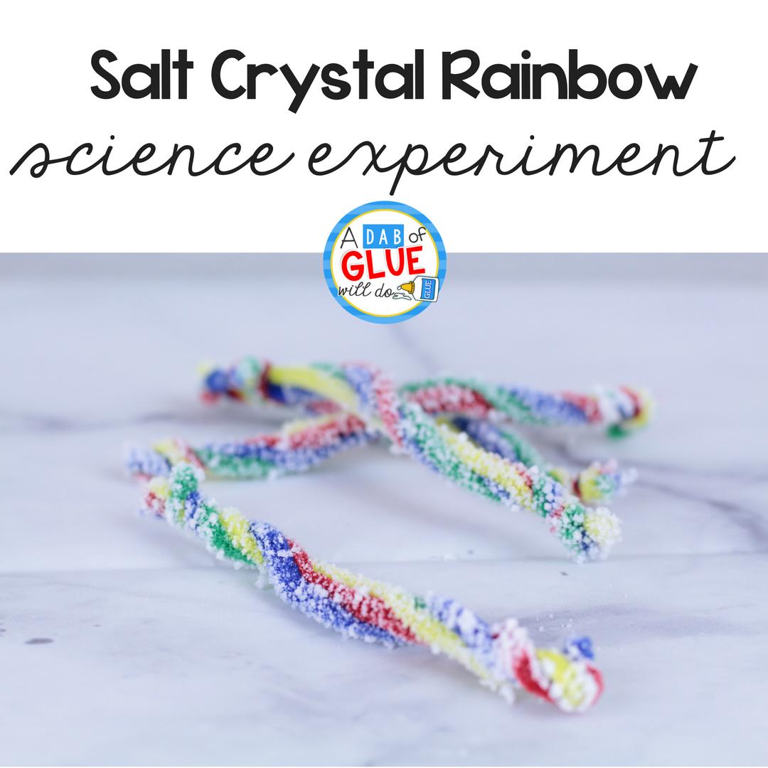 Salt Crystal Rainbow Science for Kids