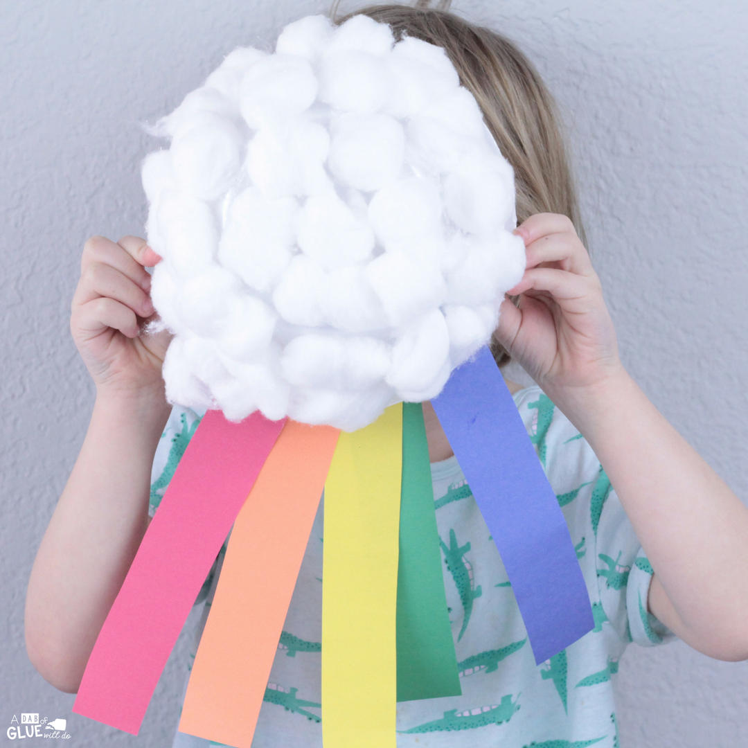 Spring is a great time for this Rainbow Craft for Kids! It's a great addition to your color study or weather unit study for kids.