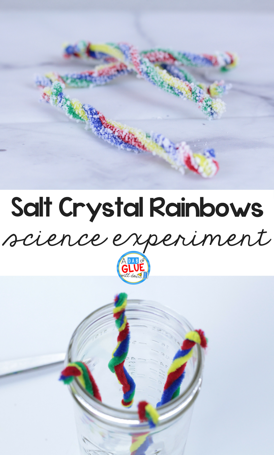 Salt Crystal Rainbow Science for Kids
