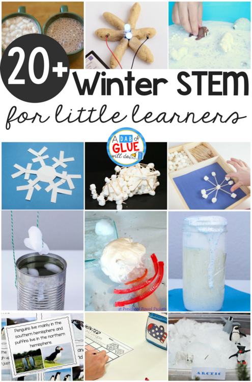 The cold winter months are perfect for teaching little learners about snow, Arctic animals, snowmen! If you need fun ideas for your busy winter classroom, check out this list of STEM winter activities! We have collected the very best activities for your kindergarteners.