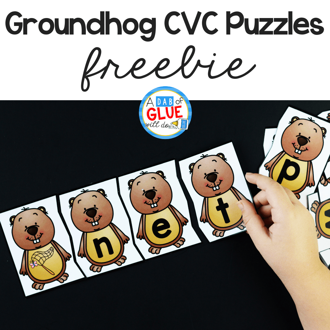 Groundhog Day CVC Puzzles