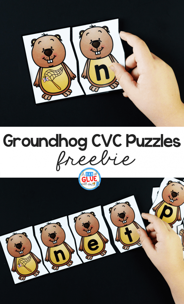 Using these Groundhog CVC Puzzles helps our students to build their phonemic awareness using single syllable words in an enjoyable way.