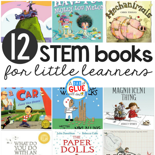 12 STEM Kindergarten Books for Little Learners