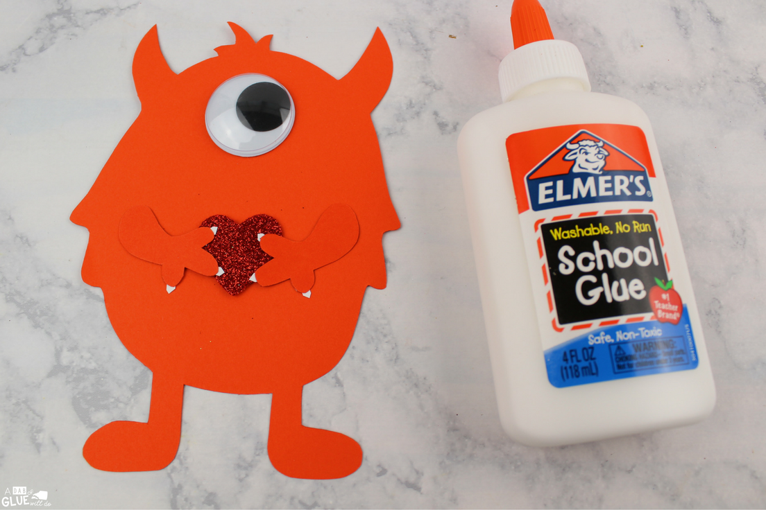 This is an adorable craft! Make your won Valentine's Day Monster Craft with your studnets this February for an easy DIY Valentine for kids.
