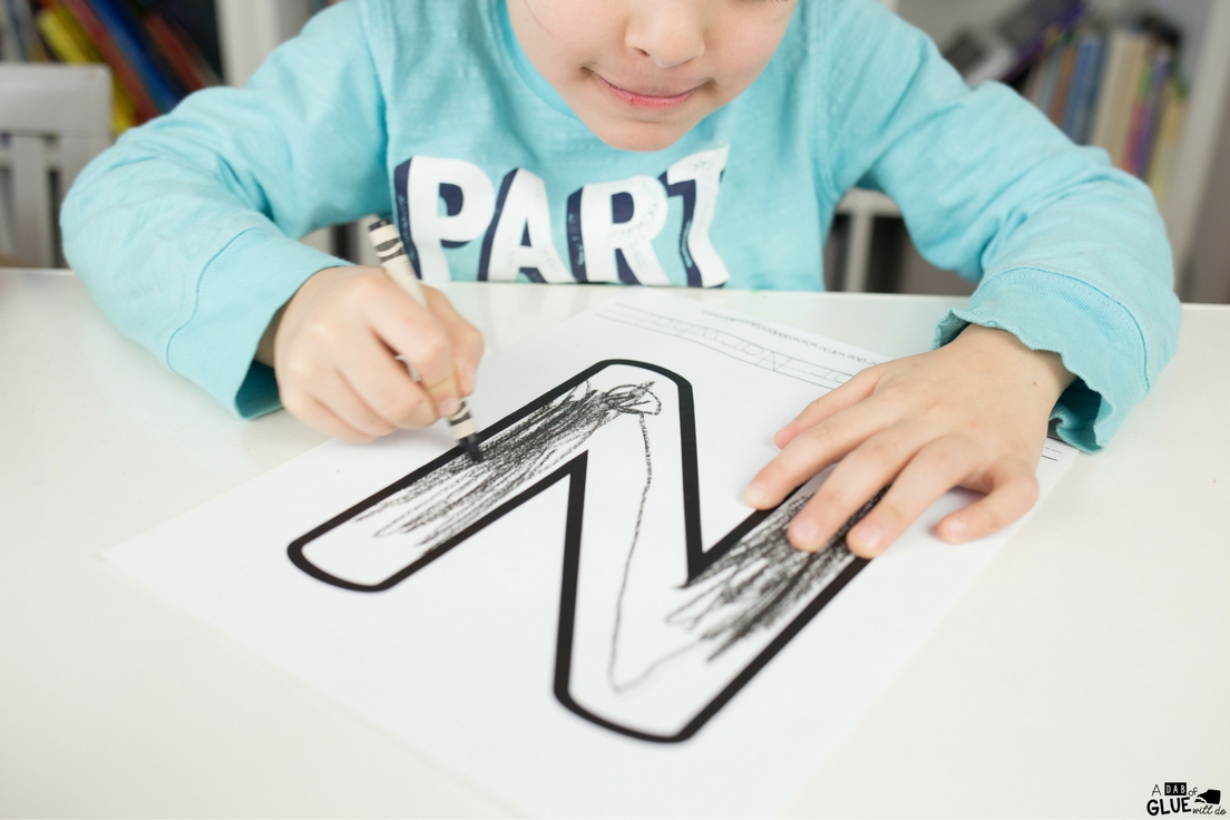 This letter of the week craft is perfect for your kids that love animals. Animal Alphabet N is for Narwhal craft is a free printable for kindergarteners!