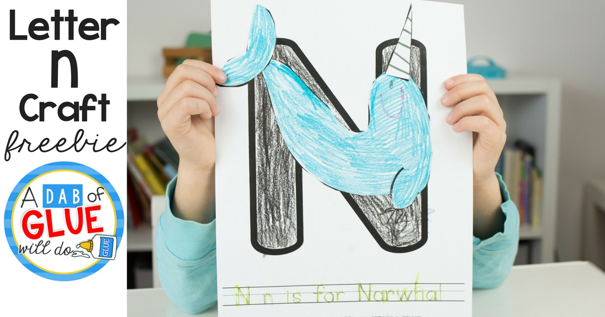 Animal Alphabet N Is For Narwhal Craft