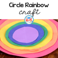 This fun craft helps students learn more about colors too! Add this to your other rainbow crafts to learn all about circles and practice scissor skills. #spring #stpatricksday