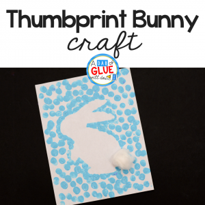 Easter Bunny Thumbprint Art