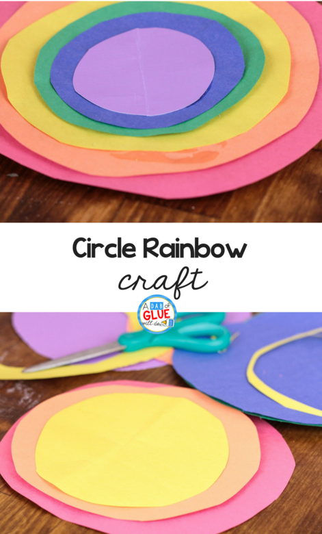 rainbow art and craft rainbow crafts with circle 5308