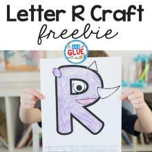 Animal Alphabet R is for Rhinoceros Craft