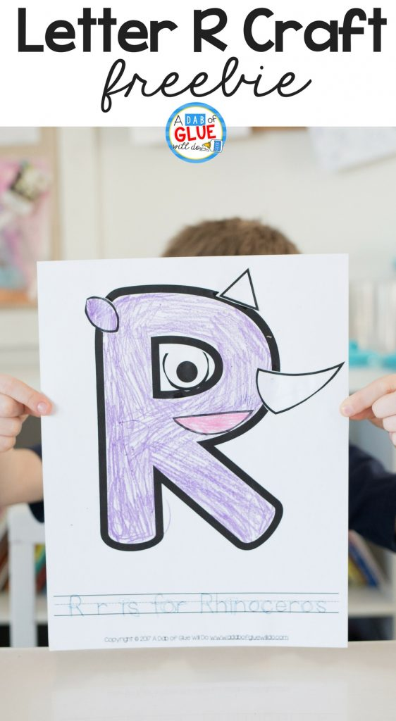 Hands-on learning fun with a Letter of the Week craft featuring the Letter R for Rhinoceros.