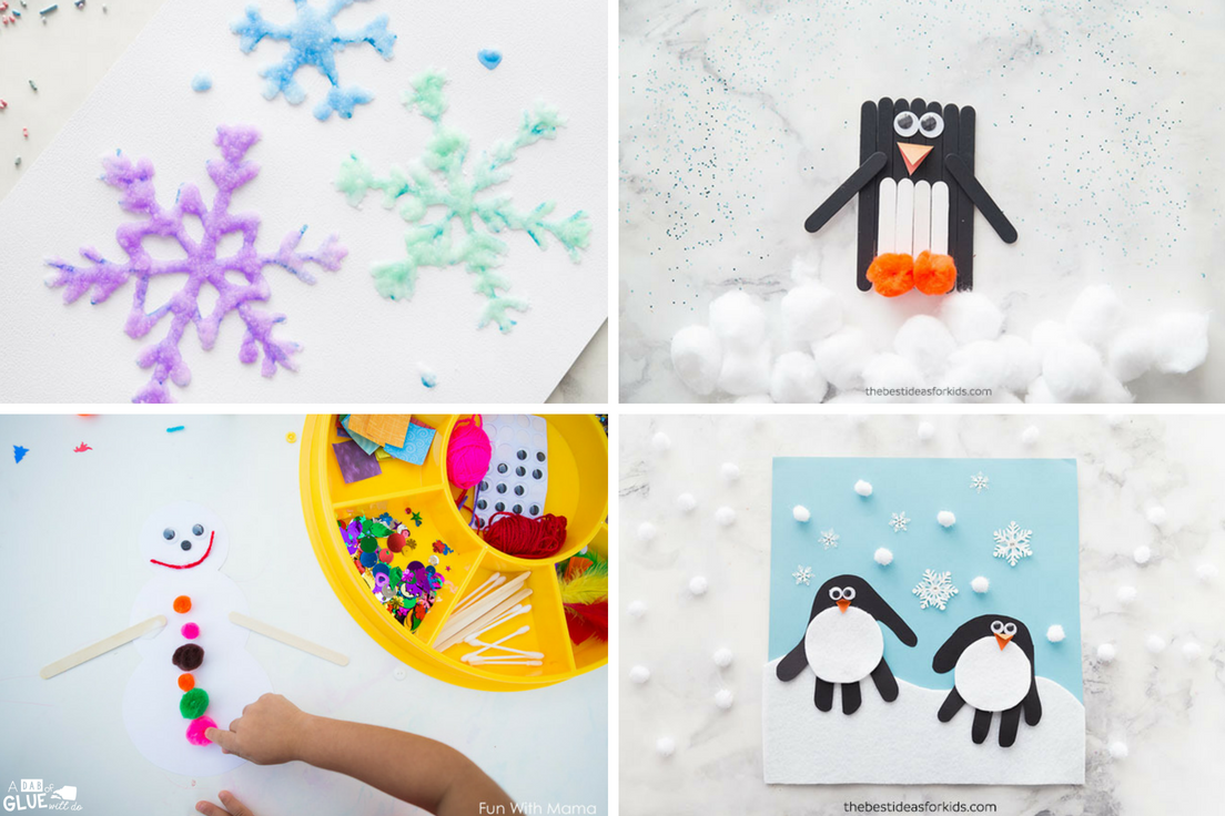 Looking for fun Winter Crafts for Kindergarten classrooms? Your students will love these simple winter crafts. Use these for your next fine motor craft too!