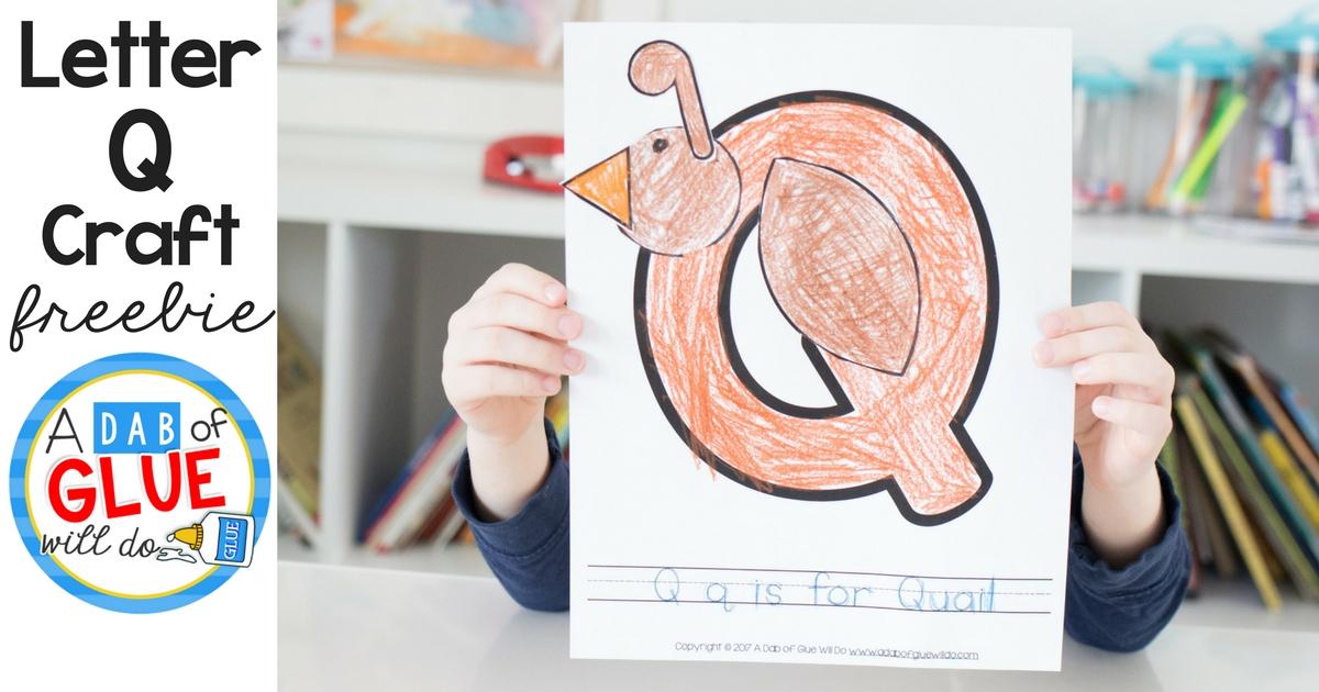 Animal Alphabet Q is for Quail Craft -