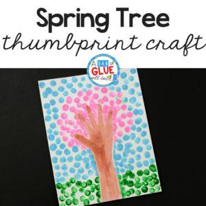Spring Fingerprint Tree Craft