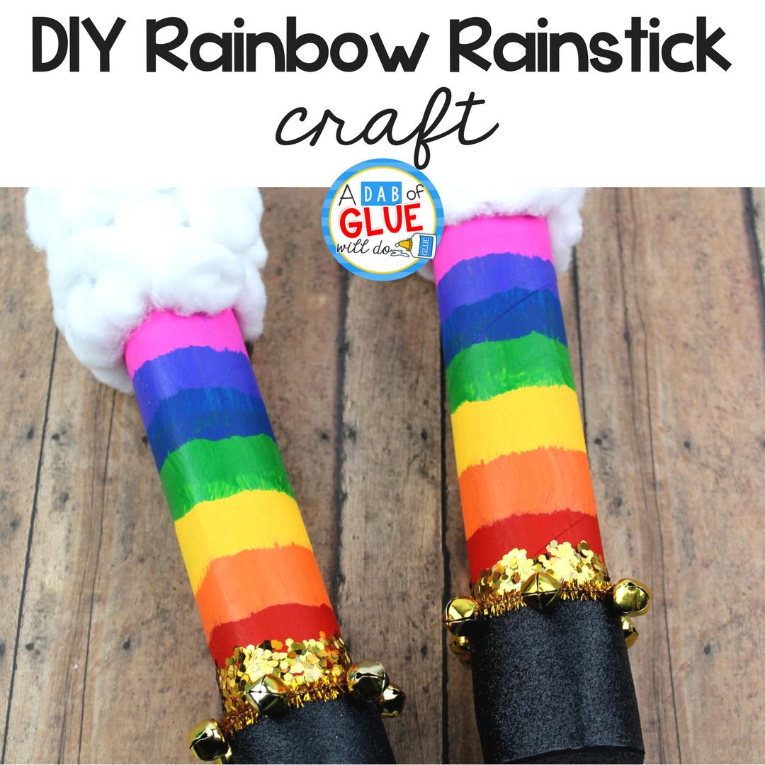 DIY Rainbow Rainstick Activity for Kids