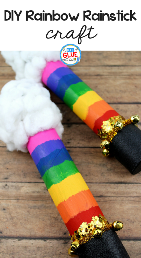 DIY Rainbow Rainstick Activity for Kids