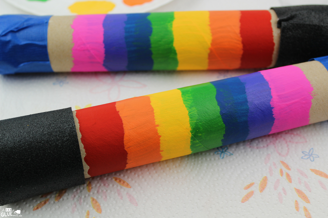 This DIY rainbow rainstick activity is so much fun for your little music makers.