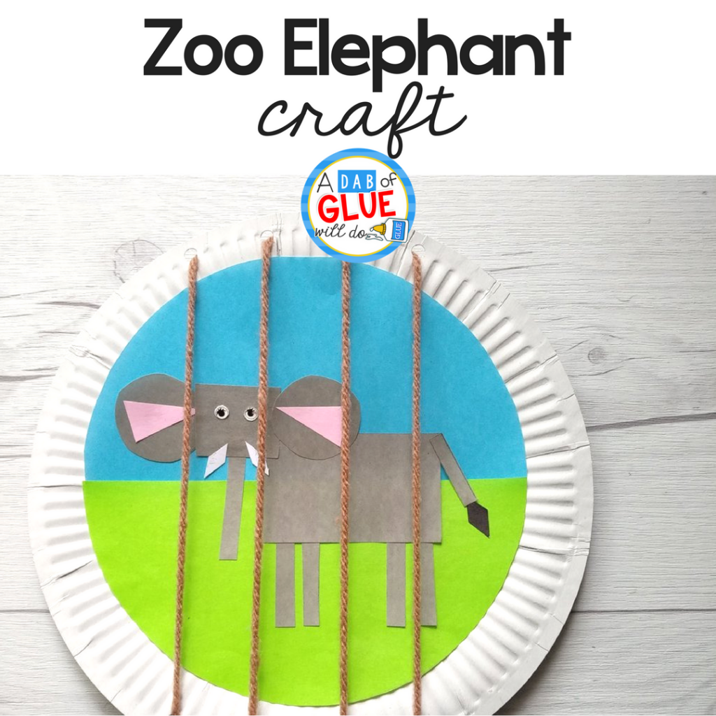 Kids will have fun and learn about shapes with this zoo elephant craft.