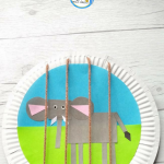 Explore about Wild animals, the Zoo & shapes with this fun Zoo Themed Shape Elephant Craft that uses string or wool to create the cage bars.