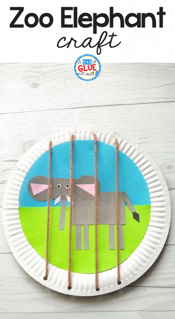 Explore about Wild animals, the Zoo & shapes with this fun Zoo Themed Shape Elephant Craftthat uses string or wool to create the cage bars.