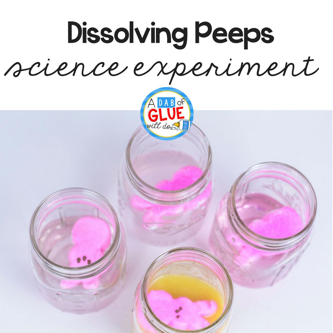 Dissolving Peeps Science Experiment For Kids