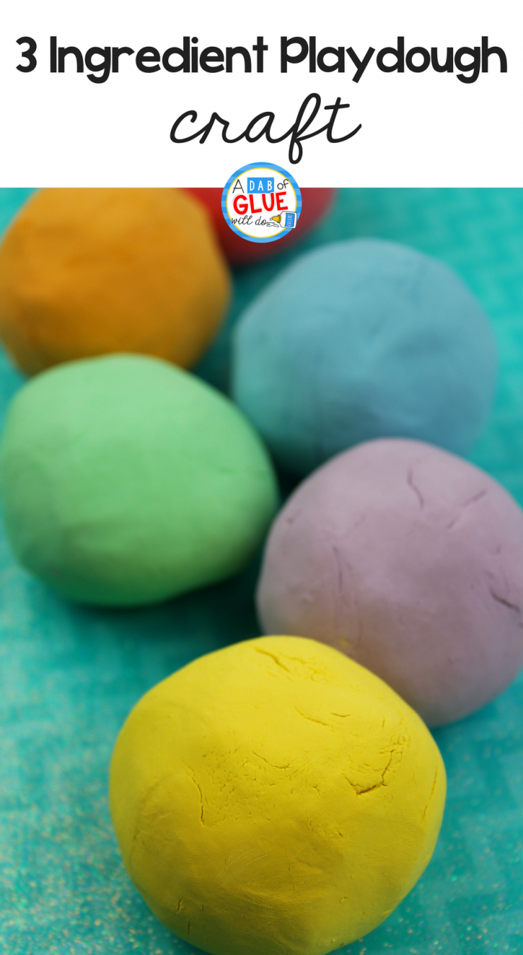 3 Ingredient Soft Playdough Recipe for Kids