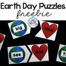 Earth Day Editable Puzzles