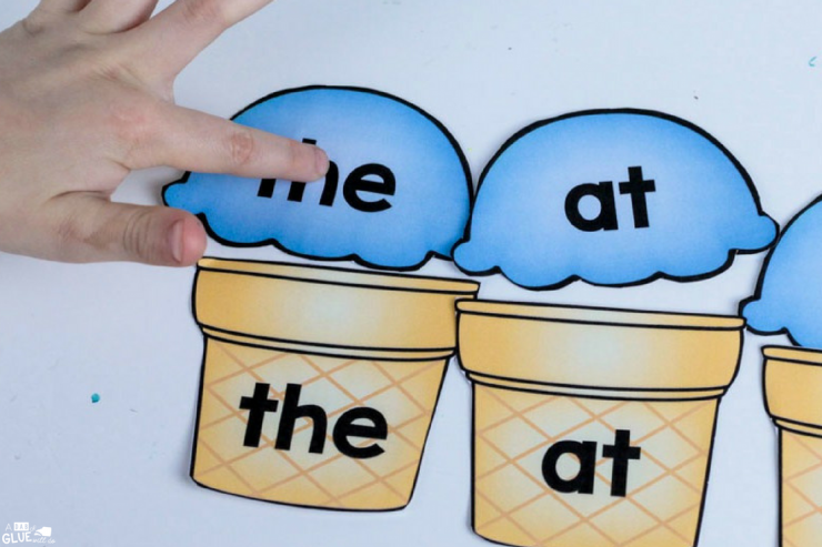 Learning sight words is hands-on and fun with this Ice Cream Sight Word Match Up!