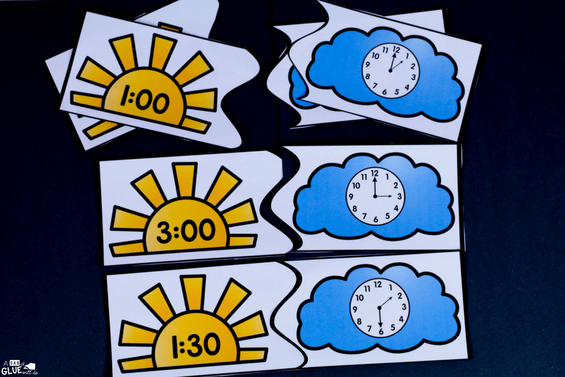 If you are planning on teaching time this spring, grab these printable puzzles for kindergarten! Your teaching time clock puzzles are the perfect printable.