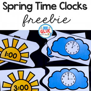 Spring Teaching Time Clock Puzzles