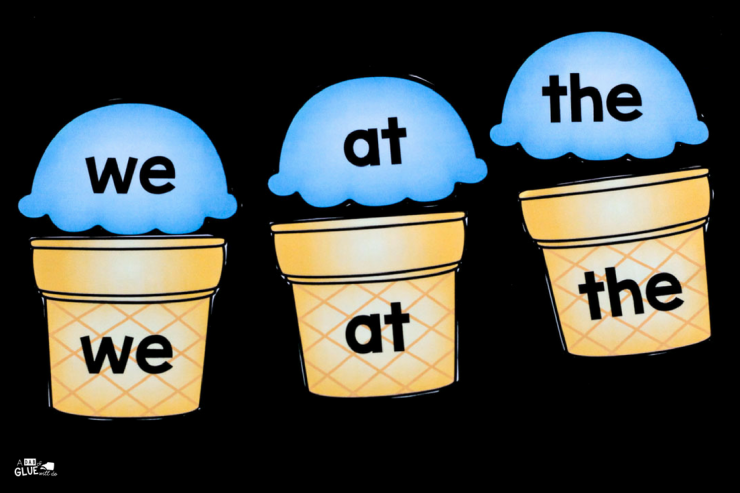 Students will love this ice cream sight word match up freebie that makes early literacy hands-on and fun.