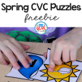 These Spring CVC Puzzles are the PERFECT addition to your early literacy or Spring themed centers.