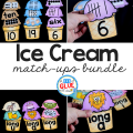 Early learners will LOVE this hands-on ice cream match ups bundle! The perfect addition for your Math and Literacy centers.