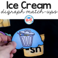 Hands-on early literacy fun awaits with this Ice Cream Digraph Sound Match Ups! Perfect for your early literacy centers.