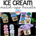 Students will LOVE this Ice Cream Match-Ups Bundle! Perfect for your literacy and math centers. Can be used for preschool, Kindergarten, or First Grade.