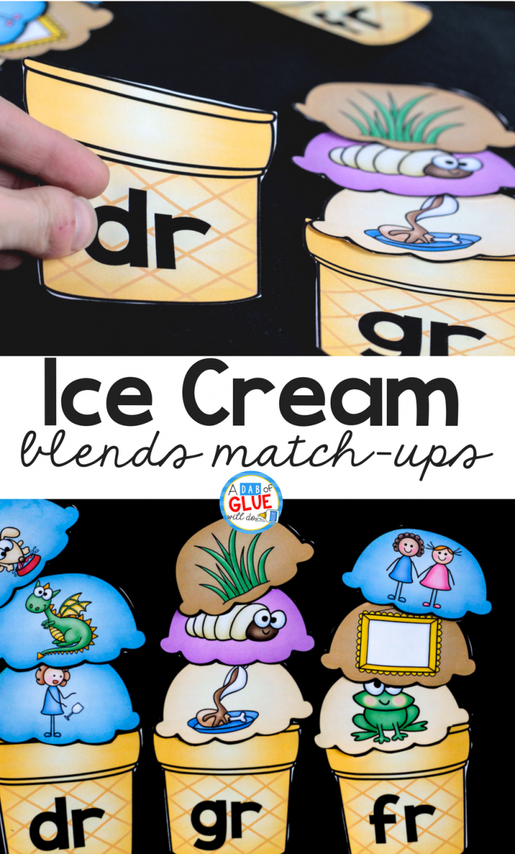 Your early learners are sure to LOVE this Ice Cream Blends Match Up! The perfect addition to your early literacy center at any time of the year.