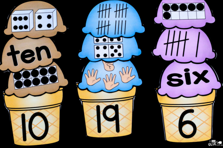 Your students are going to LOVE this Ice Cream Number Match Up! Perfect for your math centers.