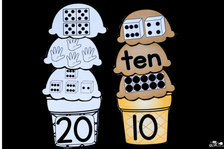 Early learners are going to LOVE this Ice Cream Number Match Ups! Perfect for your math centers at anytime of the year.