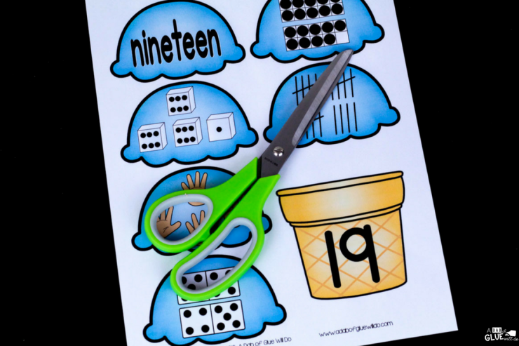 Your early elementary students will LOVE this Ice Cream Numbers Match Up! Perfect for your PreK, Kindergarten, or First Grade math center.