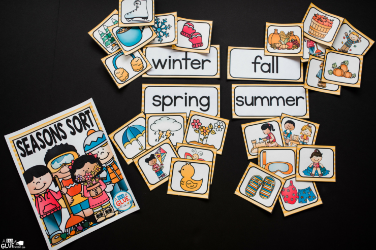 Your students will love this Seasons Sort printable! The perfect addition to your learning centers.
