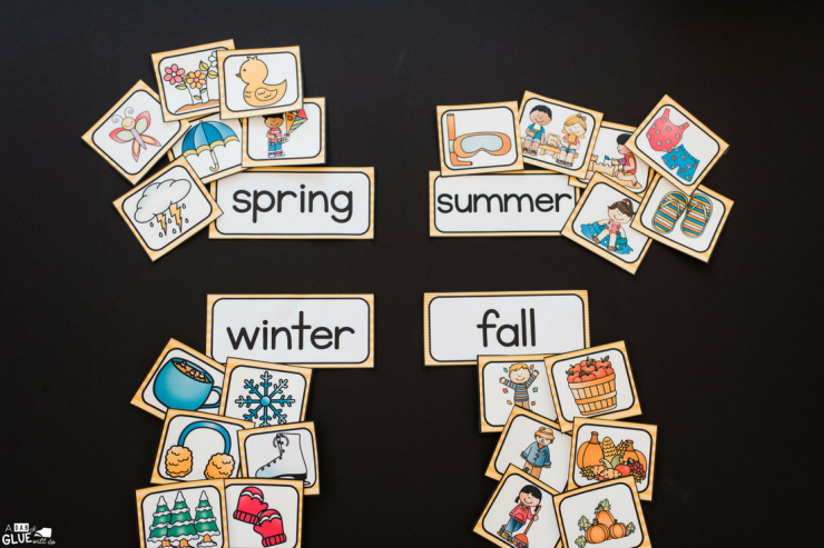Sorting skills are so easy to learn with this free Seasons Sort printable!
