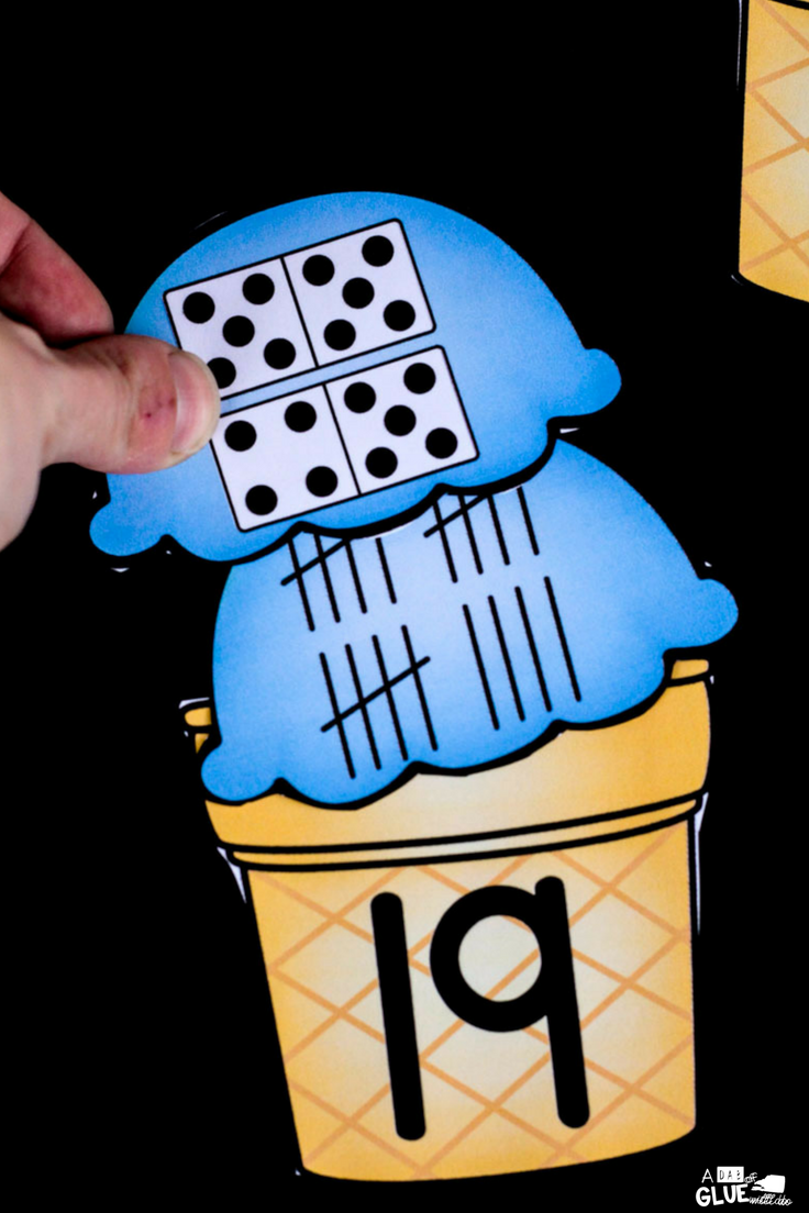 Math is hands-on and fun with this Ice Cream Number Match Ups. Perfect for your early learners in PreK, Kindergarten, or First Grade.
