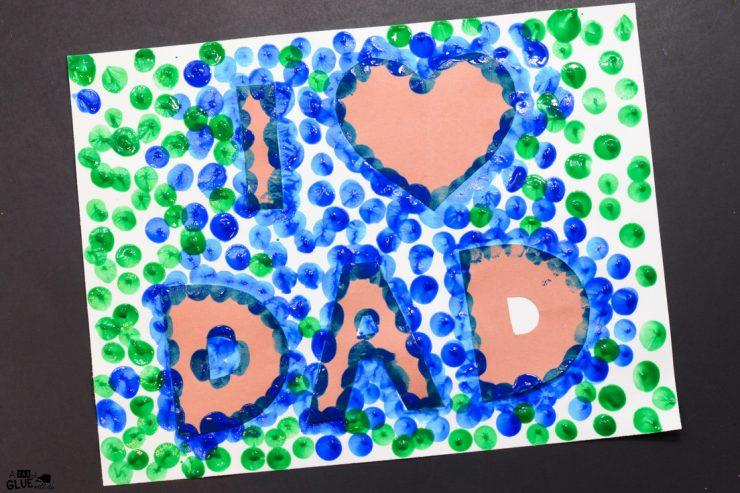 He is going to LOVE this Love Dad thumbprint craft!