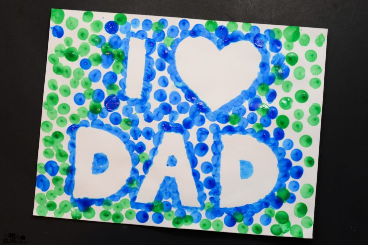 I Love Dad Father's Day Thumbprint Craft -