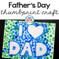 This keepsake Father's Day Thumbprint Craft is sure to make his day!
