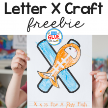 Your students will love learning their letters with this fun and adorable Animal Alphabet X is for X-Ray Fish Craft. Perfect for early learners.