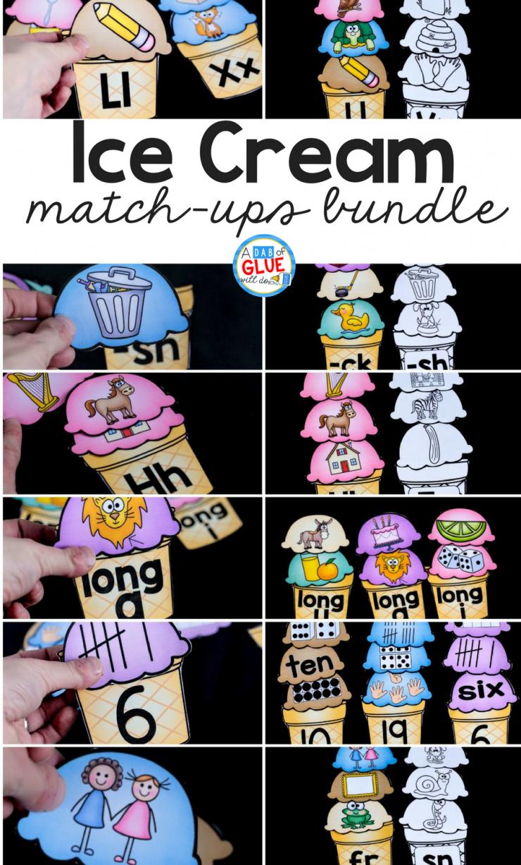 Ice Cream Match Ups Bundle