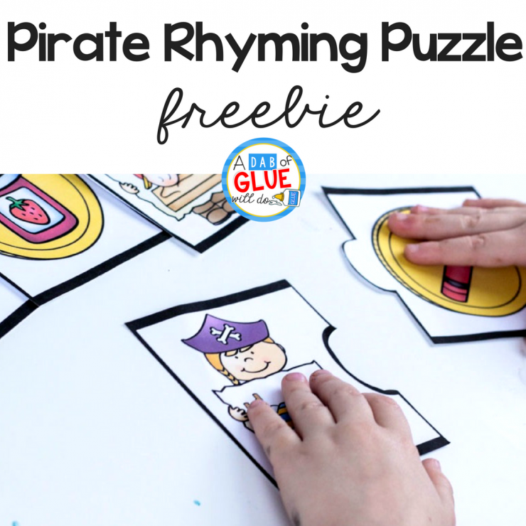 Make early literacy hands-on fun with this Pirate Rhyming Puzzle!